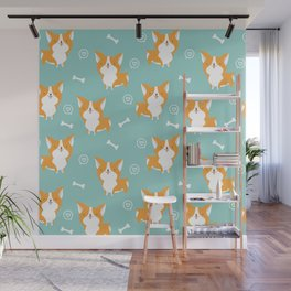 Sweet corgis pattern Wall Mural