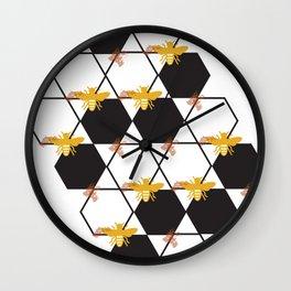 Bees Pattern Wall Clock