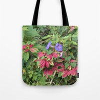 indonesia Tote Bags featuring Christmas Star (Bali, Indonesia) by Christian Haberäcker - acryl abstract