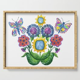 Butterfly Playground Serving Tray