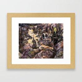 A Quiet Walk in the Woods Framed Art Print