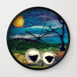 Highland Sheep Wall Clock