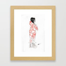 Sketch of a Tattooed Woman Framed Art Print