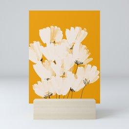 Flowers In Tangerine Mini Art Print