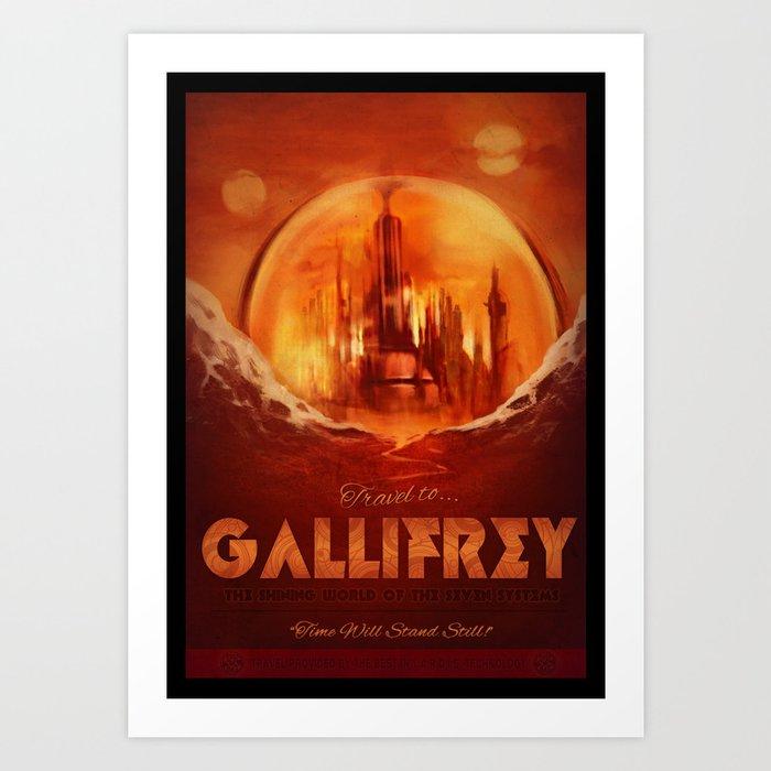 Travel to Gallifrey! Art Print