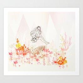 mashroom lady wonderland  Art Print