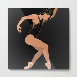 The movement of a ballerina Metal Print