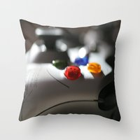 xbox Throw Pillows featuring xbox 360 by STEPHANIE MCARTHUR PHOTOGRAPHY