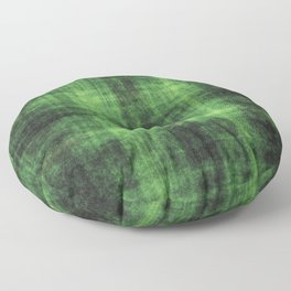 Distressed Green Check Pattern Abstract Floor Pillow
