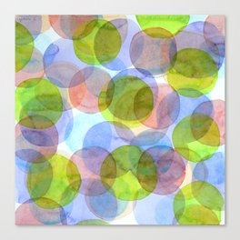 Green Red Blue Circles Canvas Print