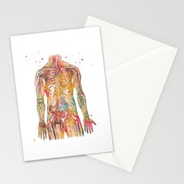 Human Body Stationery Cards