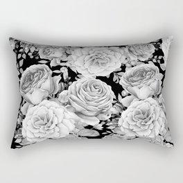 ROSES ON DARK BACKGROUND Rectangular Pillow