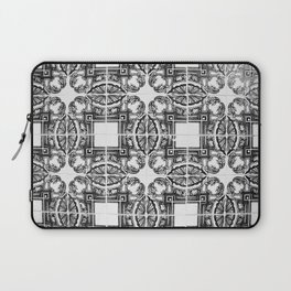 Azulejo in Black and White Laptop Sleeve