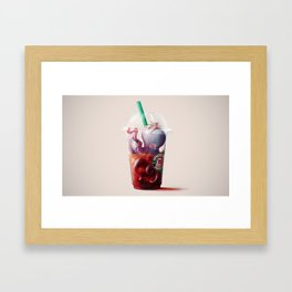 Coffee challenges. Framed Art Print