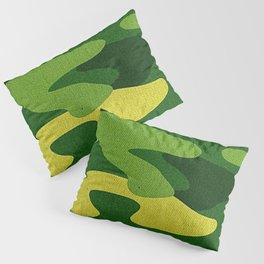 A Green Camo (camouflage) Design Pillow Sham