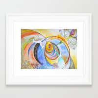 trip Framed Art Prints featuring trip by Meld & Heal