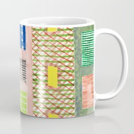 Friendly Pattern Mix On Pink Coffee Mug