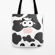 Minimal Cow Tote Bag