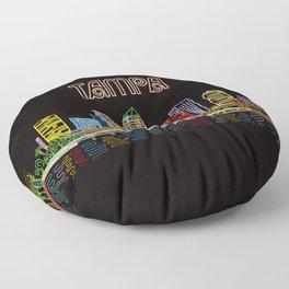 Tampa Circuit Floor Pillow