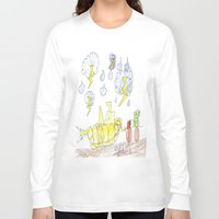percy jackson Long Sleeve T-shirts featuring Byron Rescues Percy by Ryan van Gogh