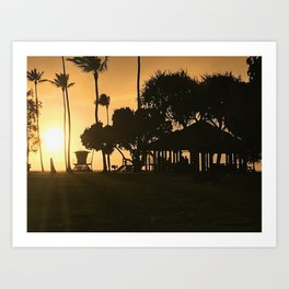 """Poipu Beach, Kauai"" Photography by Willowcatdesigns Art Print"