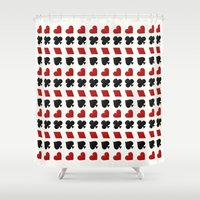 suits Shower Curtains featuring Card Suits by •ntpl•