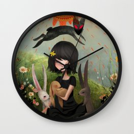 My Heart has Joined the Thousand, for my friend stopped running today. Wall Clock