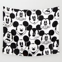 mickey Wall Tapestries featuring Mickey Mouse by Pink Berry Patterns