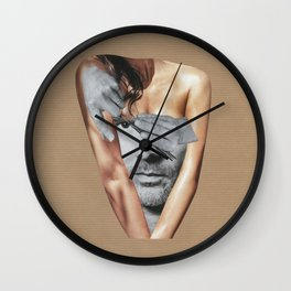 Let the black and white man out Wall Clock