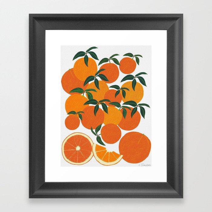 Orange Harvest - White Gerahmter Kunstdruck