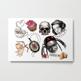 Love Tattoo Flash Metal Print