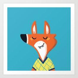 Fox friend Art Print