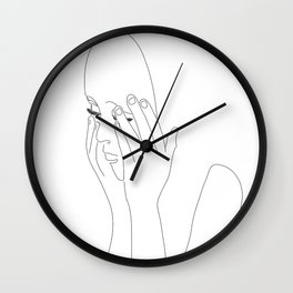 Girl with Mask Wall Clock