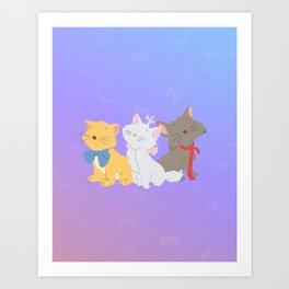 three aristocats..  Art Print