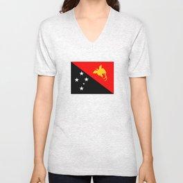 Papua New Guinea country flag Unisex V-Neck