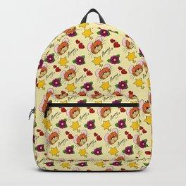 Hammy Pattern in Lemon Yellow Backpack
