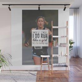 Run Like A Girl Lady Boss Runner Queen Princess Wall Mural