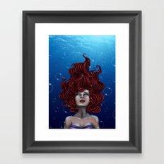 Tears of a Mermaid Framed Art Print