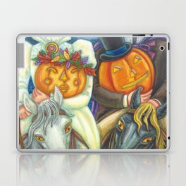 SLEEPY HOLLOW WEDDING - Brack Headless Horseman Halloween Art Laptop & iPad Skin