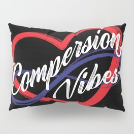 Compersion Vibes Poly Heart Pillow Sham
