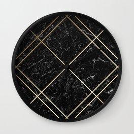Gold & Black Marble 02 Wall Clock