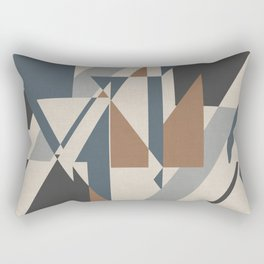 Teepee in Cinnamon Spice, Ivory, Charcoal Grey and Blue Rectangular Pillow