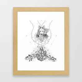 Cosmic Fox Framed Art Print