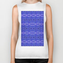 Ancient Thread Pattern Blue Biker Tank