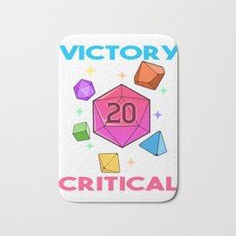 Tabletop Gaming DM Print Victory If Crit Dragons D20 Dice Print Bath Mat