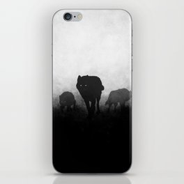 Black and White Wolfpack iPhone Skin