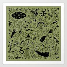Curious Collection No. 2  Art Print