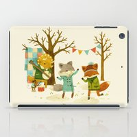spring iPad Cases featuring Critters: Spring Dancing by Teagan White