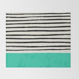 Mint x Stripes Throw Blanket