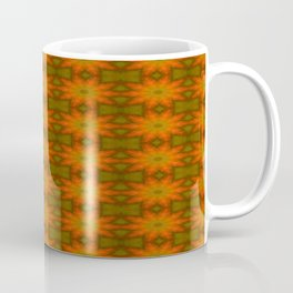 Autumnal Leaves Red and Green Repeating Pattern Coffee Mug